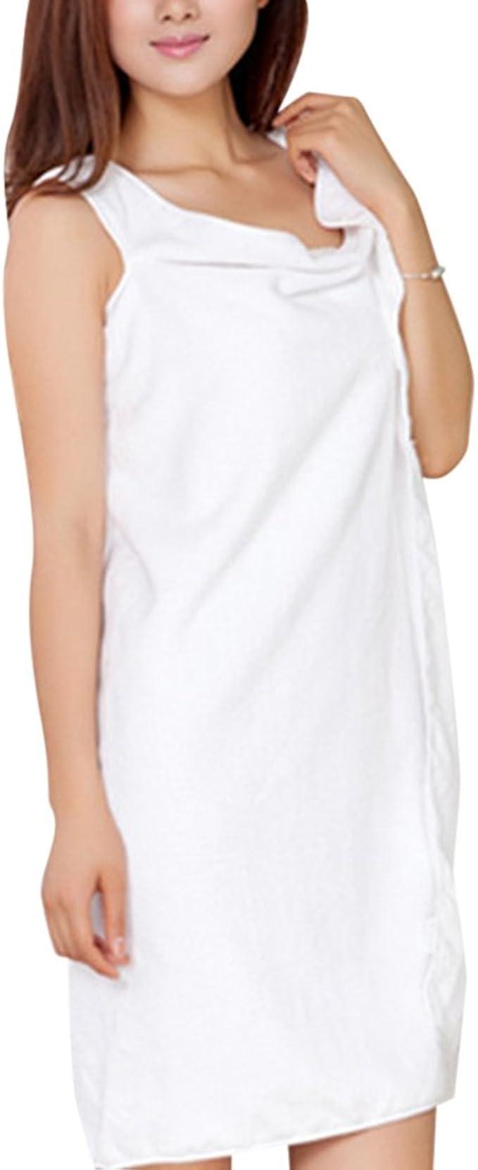 ZiXing Pour femme Wearable Super Doux Eau absorbant en microfibre Sweet Bowknot Serviette de bain Spa Robe tube