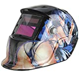 TIG Welder - BephaMart Beautiful Girl Solar Auto Darkening Arc Tig Mig Welding Grinding Helmet Welder Mask Shipped and Sold by BephaMart
