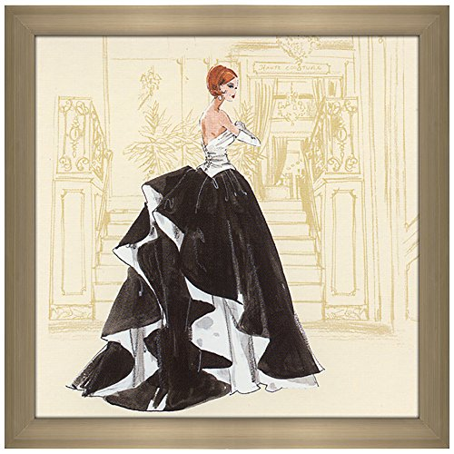 Picture Perfect International Décor Robert Best Black and White Gown Barbie Framed Fashion Wall Decor