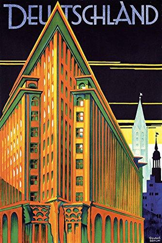 Visit Deutschland Germany German Buildings Travel Tourism European Vintage Poster Repro 16