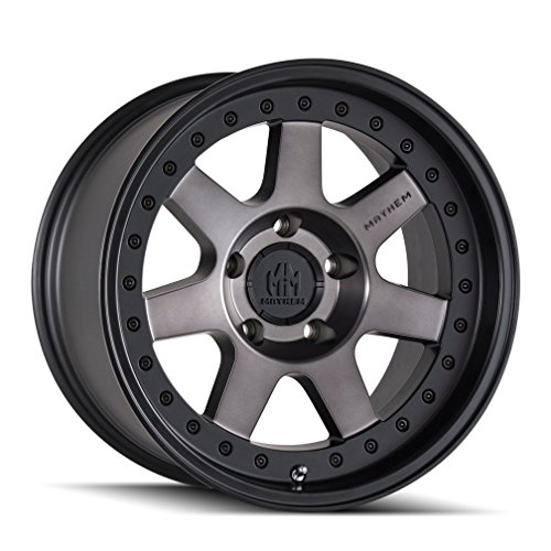 MAYHEM PRODIGY (8300) MATTE BLACK W/DARK TINT: 18x9 Wheel Size; 6-139.7 Lug Pattern, 106mm Bore, 0mm Offset.