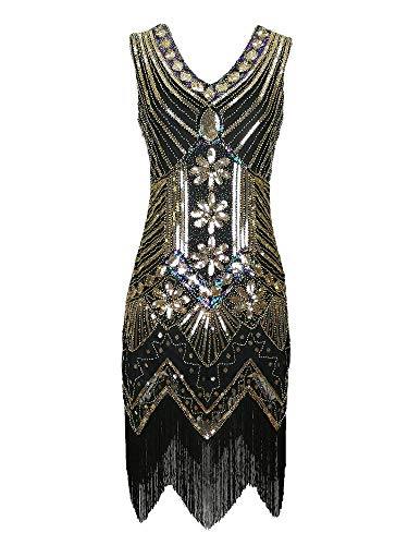 Affordable Gatsby Inspired Dresses (Beaded Flapper Gatsby Inspired Style Themed Bachelorette Party Dresses)