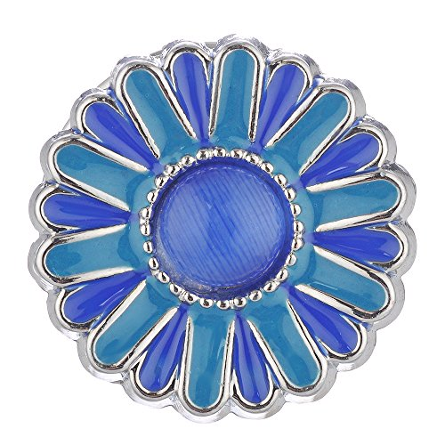 Vocheng 18mm Sunflower Hand Painted Snap  Jewelry, F ()