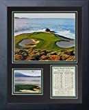 """Legends Never Die """"Pebble Beach Hole #7"""" Framed Photo Collage, 11 x 14-Inch"""