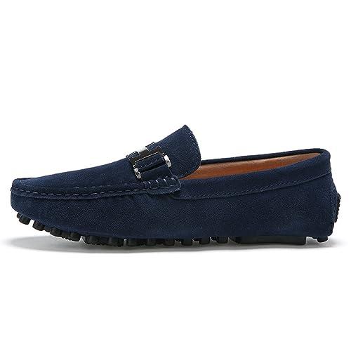 Hombres Mocasines Cuero Genuino Moda Zapatos de Conducción de Alta Calidad Mocasín Zapatos de Barco Causal Pisos: Amazon.es: Zapatos y complementos