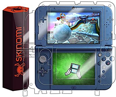 Nintendo 3DS XL Screen Protector + Full Body (Nintendo 3DS LL,2015), Skinomi® TechSkin Full Coverage Skin + Screen Protector for Nintendo 3DS XL Front & Back Clear HD Film