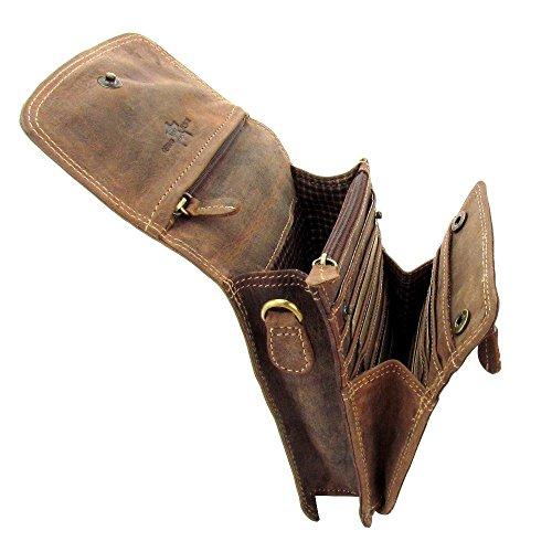Lozano Vintage Hand Bag Umhängetasche oder als Gürteltasche zu verwenden Wild Leder