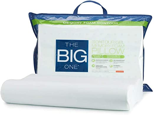 Amazon Com The Big One Gel Memory Foam Contour Pillow Standard