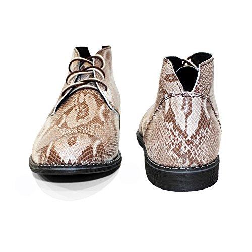 Boots in Uomo da Korbo Handmade Grigio in Allacciare Modello Pelle Rilievo Italiano Chukka Vacchetta Pelle wgzpTXq