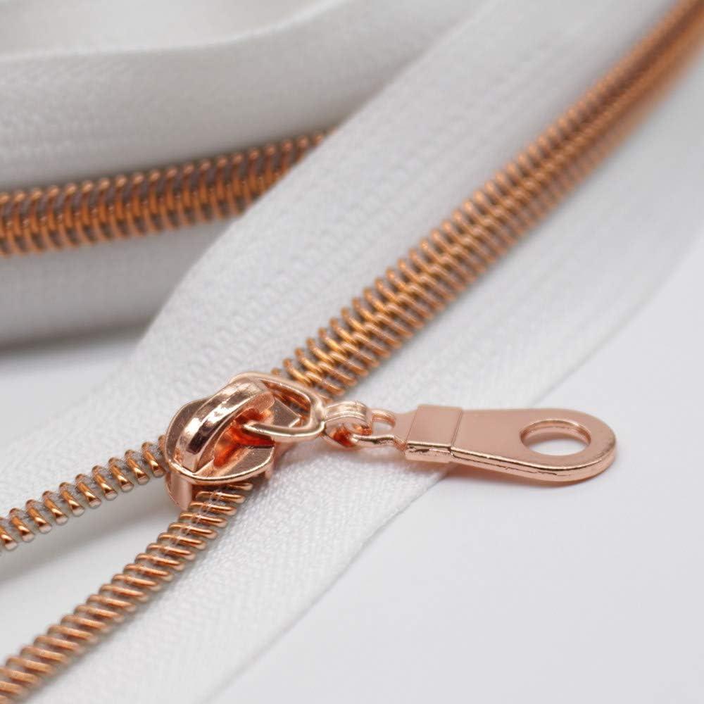 1 Zipper 4cm altsilber metall Ersatz Reißverschluss Verschluß leicht zu tauschen