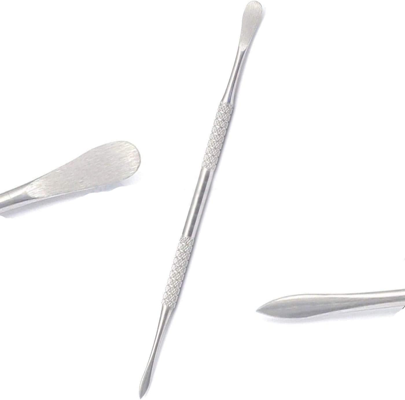 OdontoMed2011 Stainless Steel Double-Sided Hook /& Angled Pick Wax /& Clay Sculpting Tool