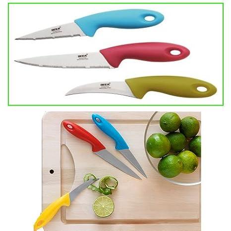 Amazon.com: IKEA SLIPAD – Juego de cuchillo, varios colores ...