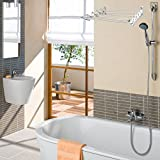 ANPI Telescopic Towel Rack, Drying Racks Airer Extendable Clothes Dryer Retractable Wall Mounted Mounting Set Towel Rail ABS Hanger Towel Holder