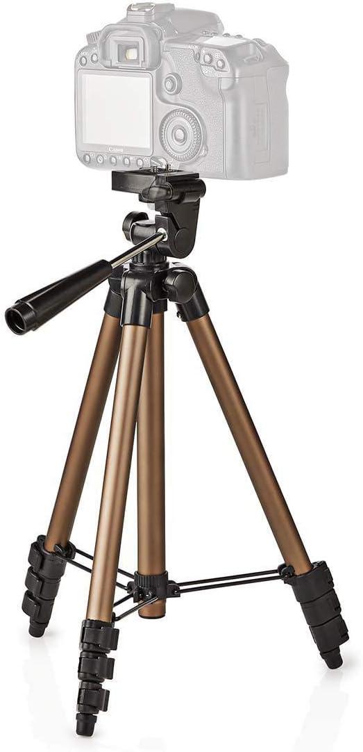 105 cm Noir//Argent Max Nedis TPOD2000BZ Tr/épied 1,5 kg Fonction Panoramique et Inclinaison