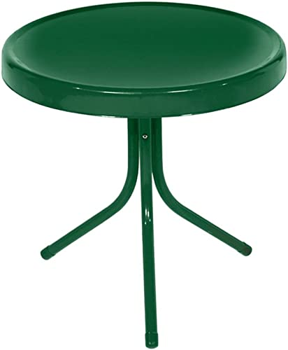 Northlight 21.75-Inch Outdoor Retro Metal Tulip Side Table