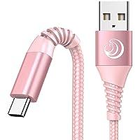 3A Cable USB Tipo C, [2-Pack, 2M] Cargador Tipo C Nylon Carga Rápida y Sincronización Cable USB C para Samsung Galaxy…