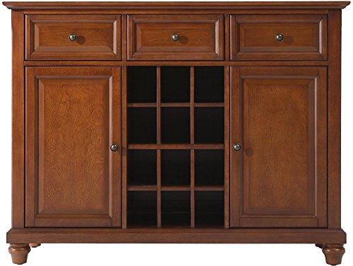 Crosley Furniture Cambridge Wine Buffet / Sideboard - Classic - Server Dining Cherry Finish