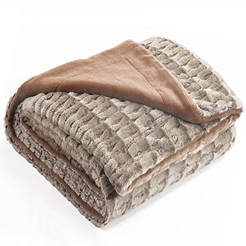 Bedsure Faux Fur Sherpa Throw Blanket 50x60 Only $15 (Was $50)