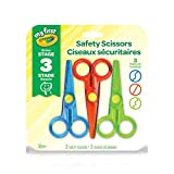 Crayola My First Safety Scissors, Art Supplies for Toddlers, for Girls and Boys, Gift for Boys and Girls, Kids, Ages 3, 4, 5,6 and Up, Back to school, School supplies, Arts and Crafts,  Gifting