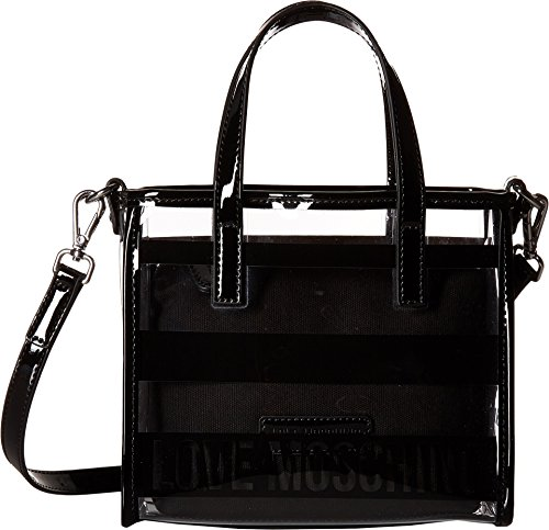 LOVE Moschino Women's Transparent Mini Tote Black One Size by Love Moschino (Image #3)