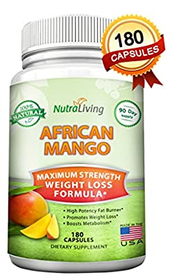 180 Capsules - African Mango Extract Cleanse - Plus Raspberry Ketones & Green Tea Complex, Natural Pure Fat Burner, Fast Weight Loss Diet Pills Supplements, Irvingia Gabonensis, Detox Drops Slim Prime
