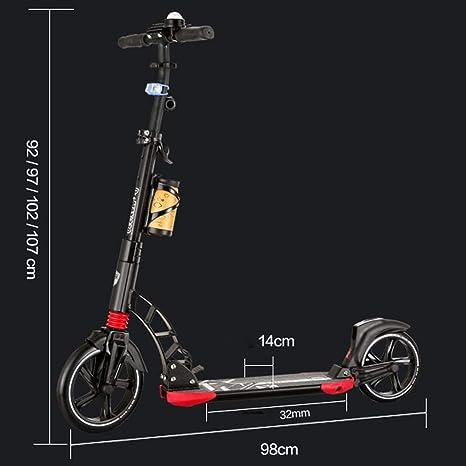 IG Patinete plegable de 230 mm, ruedas grandes, scooters con ...