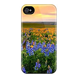 4/4s Scratch-proof Protection Case Cover For Iphone/ Hot Evening Glory Phone Case
