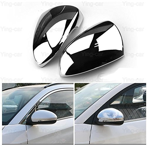 2pcs Car ABC Chrome Rearview Side Mirror Cover Trim Strip Rearview Protective Cover Fit For Hyundai Tucson 2016-2017-2018 Yingchiyin Auto Parts Co. Ltd