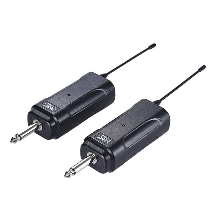 Sistema de receptor de transmisor inalámbrico de audio Sguan-wu para guitarra eléctrica bajo violín - Negro: Amazon.es: Instrumentos musicales