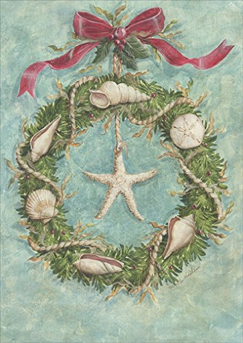 Coastal Wreath - Box of 18 Warm Weather Christmas Cards