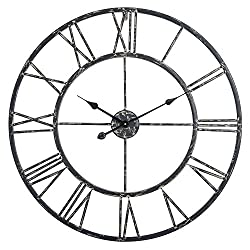 Utopia Alley Roman Wall Clock (30, Black)