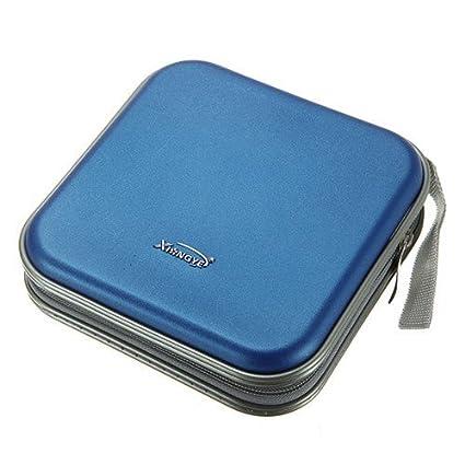 24a263cf4c0b MECO(TM) 40 Dics CD/VCD/DVD Case Storage Organizer Wallet Holder Album Box  (Blue)