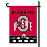 NCAA Ohio State Buckeyes 2 Sided Garden Flag, One Size, Team Color