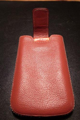 digiETUI - Funda de cuero para móviles Samsung S5230 Star color negro rojo