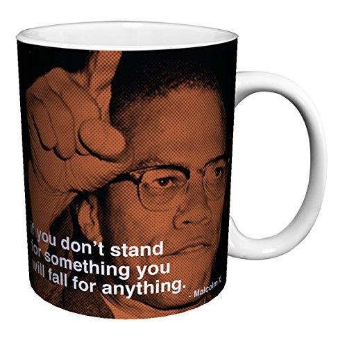Malcolm X Quote iPhilosophy Political Civil Rights Icon Celebrity Ceramic Gift Coffee (Tea, Cocoa) 11 Oz. Mug