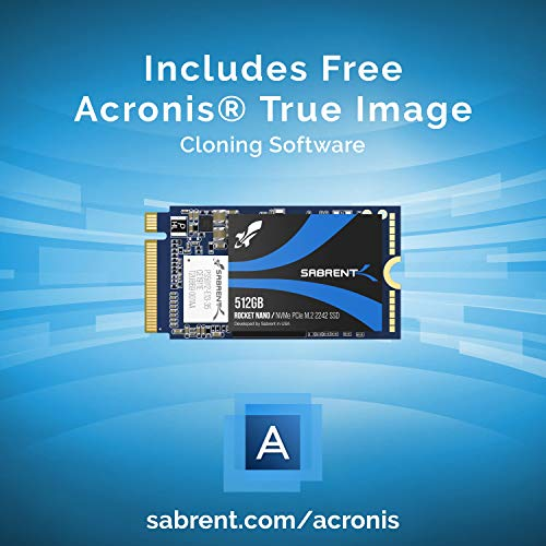 Sabrent 512GB Rocket NVMe PCIe M.2 2242 DRAM-Less Low Power Internal High Performance SSD (SB-1342-512)