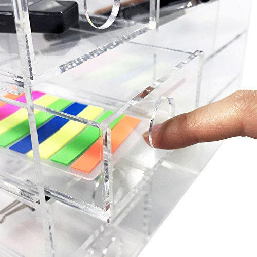 70%OFF Ikee Design Acrylic 6 Shelf Office Supply Organizer Desk Organizer  Desk Shelf