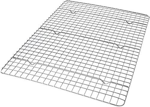 USA Pan Half Sheet Bakeable Nonstick Cooling Rack, Steel