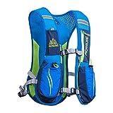 AONIJIE Marathon Hydration Vests for Running Camel Pack Running Vest Backpack Hydration Pack for Women and Men Lightweight Camel Backpack 5.5L(Blue)