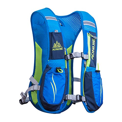 AONIJIE Marathon Hydration Vests for Running Camel Pack Running Vest Backpack Hydration Pack for Women and Men Lightweight Camel Backpack 5.5L(Blue) (Running Mens Vest)
