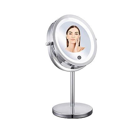 BAOFI Espejo de Maquillaje de Mesa, Espejo de Belleza LED de Doble ...