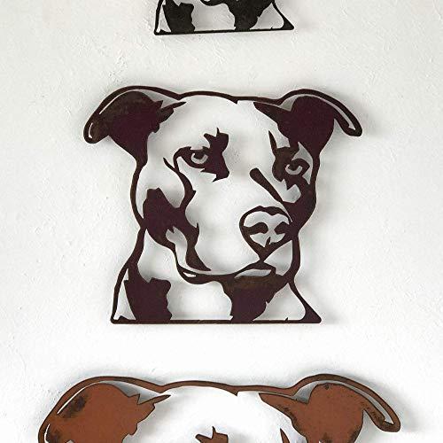 (Pit Bull Bust - Metal Wall Art home decor - Handmade - Choose 11