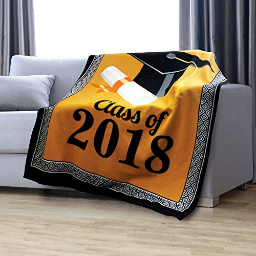 KOVOT 2018 Graduation Throw Fleece Blanket |