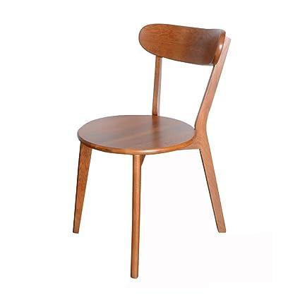 Amazon.com: CJC Silla auxiliar de comedor, marco de madera ...