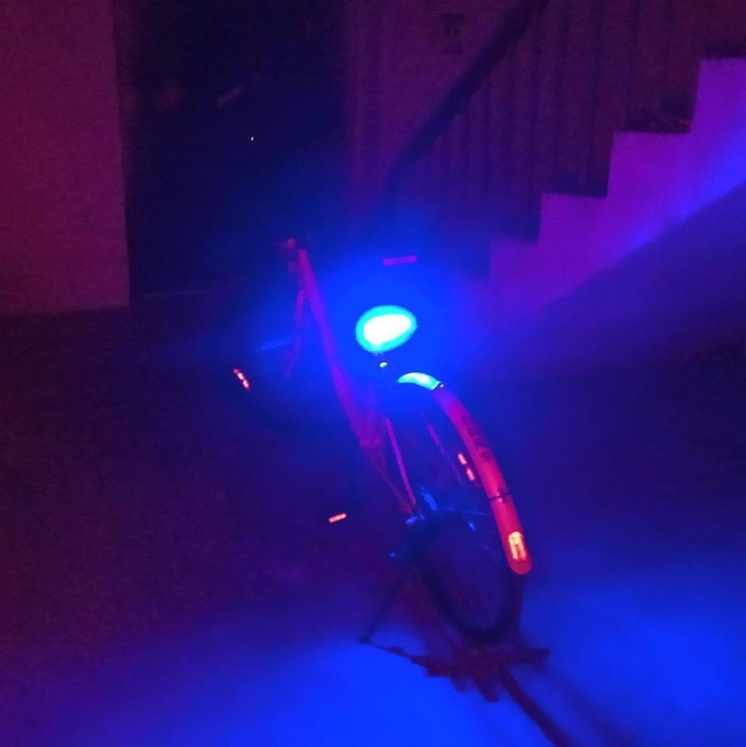 USB rechargeable LED v/élo avant arri/ère Tail Light Phare Lampe