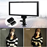 VILTROX L132T 0.78/2cm Ultra Thin CRI95 5600K/3300K Bi-color LED Video Light Dimmable Flat Panel Light , with NP-F550 battery and charger
