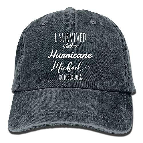 Vbfgtg I Survived Hurricane Michael October 2018 Denim Hats Washed Retro Baseball Cap Dad Hat