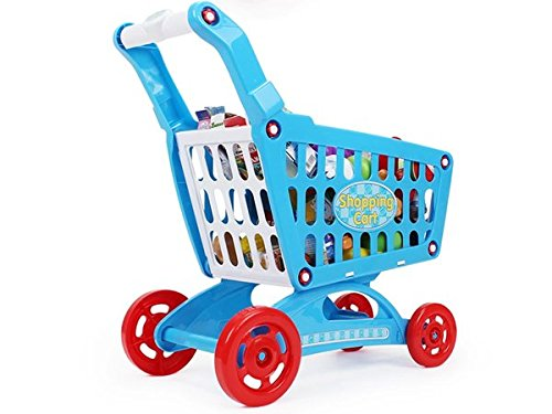 AMPERSAND SHOPS Musical Toy Shopping Cart with Goodies (Blue) by AMPERSAND SHOPS (Image #4)