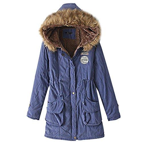 ocasional algodón gran larga delgada nuevo chaquetas las del capucha cordero capa de Invierno de de mujeres 3 y de cuello la de con tamaño piel sección azdnqUxB