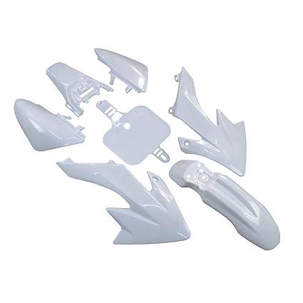 WHITE PLASTIC FENDER FAIRING KIT FOR COOLSTER XR50 CRF50 SDG PIT BIKE V PS01